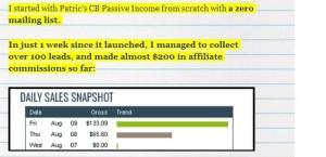 CB Passive Income Testimonial