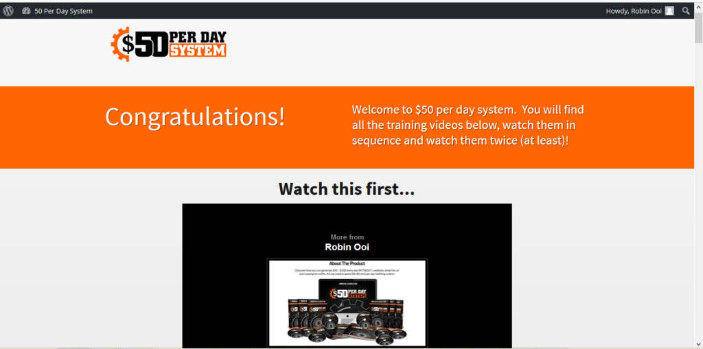 50 per day system members area